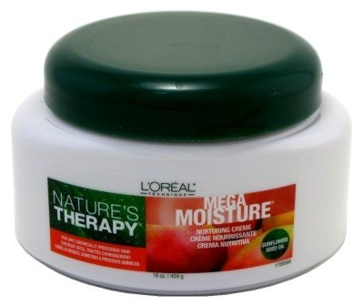 Loreal Natures Therapy Mega Moisture Creme 16 Ounce Jar (473ml) (3 Pack) by L'Oreal Paris