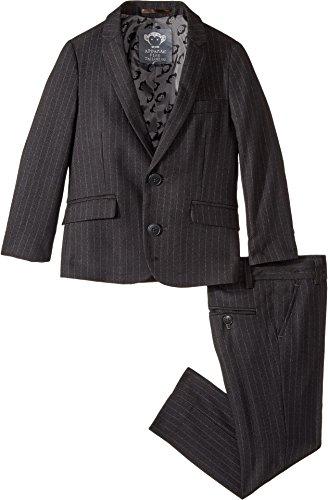 Appaman Little Boys' Pencil Stripe Two Piece MOD Suit, Charcoal Pencil Stripe, (Appaman Boys Suit)