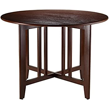 Winsome Wood Alamo Double Drop Leaf Round Table Mission, 42 Inch