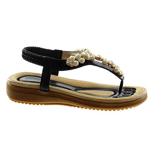 Perla Angkorly Infradito cm Moda Piattaforma Gioielli Nero Caviglia 2 Scarpe Tacco Zeppa con Alla Donna Sandali Cinturino 5 SAAzrnaW