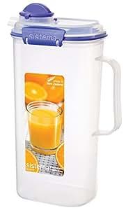 Sistema Klip It 2 Litre Juice Jug, Clear
