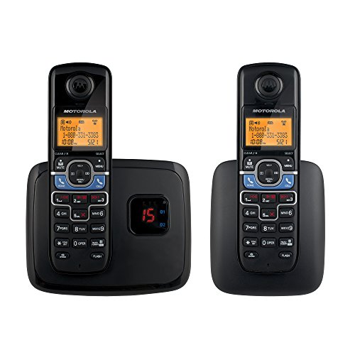 Motorola DECT 6.0 Cordless Phone with 2 Handsets, Digital Answering System and Mobile Bluetooth Linking (Motorola Telephone)
