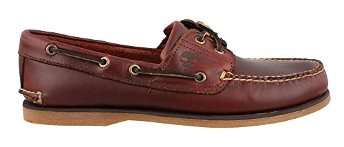 Timberland Men's Classic 2-Eye Boat Shoe, Rootbeer/Brown, 10.5 M (Timberland 2 Eye)
