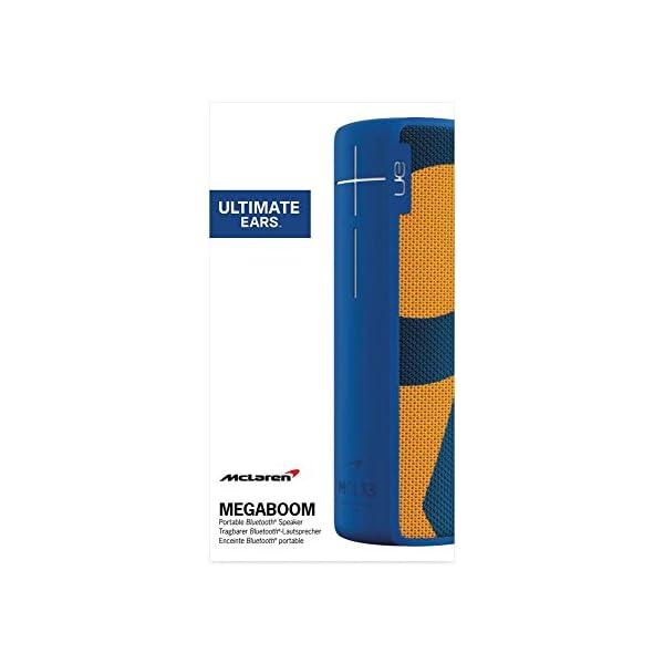 Enceinte MEGABOOM McLaren Sans fil/Bluetooth (Étanche et résistante aux chocs) - MCL33 - Bleu/Orange 4