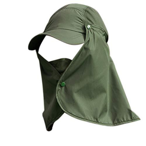 quanjucheer Capuchon de pêche, Protection UV extérieur pour Le Visage, Le Cou, la tête et la visière 1