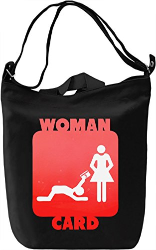 Woman Card Borsa Giornaliera Canvas Canvas Day Bag  100% Premium Cotton Canvas  DTG Printing 