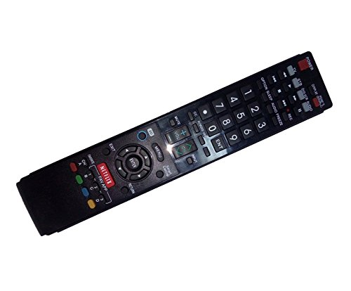 Replaced Remote Control Compatible for Sharp LC-60LE845U LC-60LE640UC LC-46LE832W LC-40LE820UN LC-60LE835U LC46LE830 AQUOS LED LCD HD TV with NETFLIX 3D Button -  JustFine
