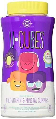 Solgar – U-Cubes les Enfants du Multi-Vitamines Et de Minéraux Gummies, 120 Gummies