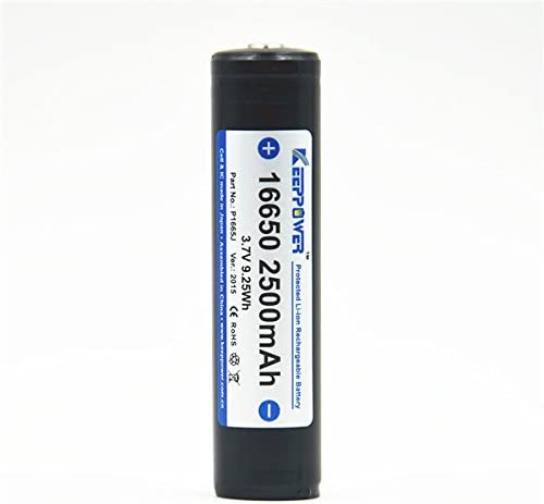 KeepPower 3.7V 9.25Wh 16650 2500MAH Lithium Rechargeable Battery