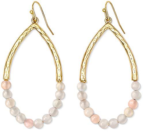 Teardrop Earrings Earrings for Women | Pink Earrings Rose Quartz Earrings Dangle Earrings for Women Blush Earrings Powder Crystal Dangle Earrings Pink Earrings Drop Earrings for Women (Cheap Teardrop Earrings)