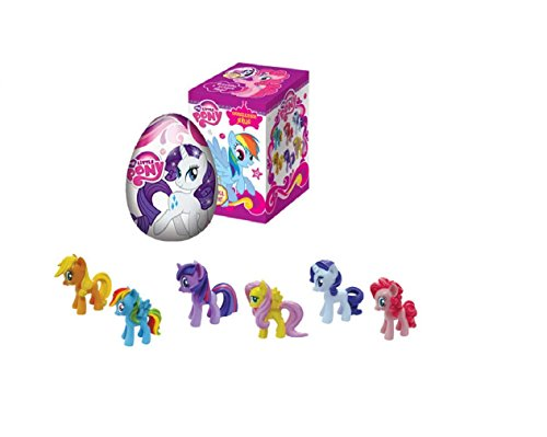 EGG MY LITTLE PONY CHOCOLATE Surprise egg with 3 d toy inside as CHOCOLATE KINDER SURPRISE EGG