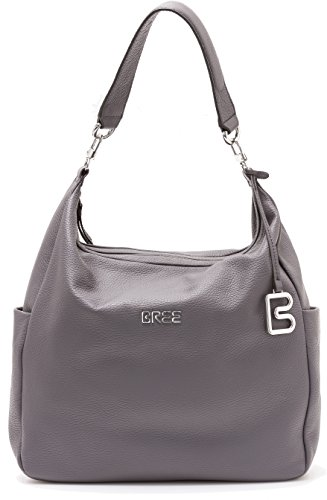 BREE Nola - Bolso mochila  de Piel Lisa para mujer gris