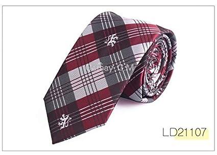 a15f338e1b4a Graven 6cm Width Mens Ties New Fashion Plaid Neckties Corbatas Gravata Jacquard  Woven Slim Tie Business