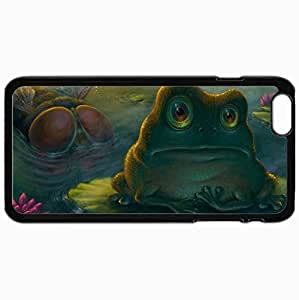 Customized Cellphone Case Back Cover For iPhone 6 Plus, Protective Hardshell Case Personalized Frog Black