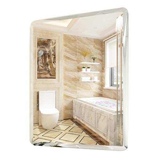 Bathroom Wall Mirror Modern Frameless Rectangle Bevelled Living Room Decorative Vanity Makeup -
