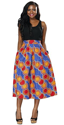 casual african print dresses - 8