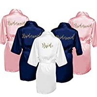 Personalized Bridesmaid Satin Kimono Robes Gift for Bridal Party