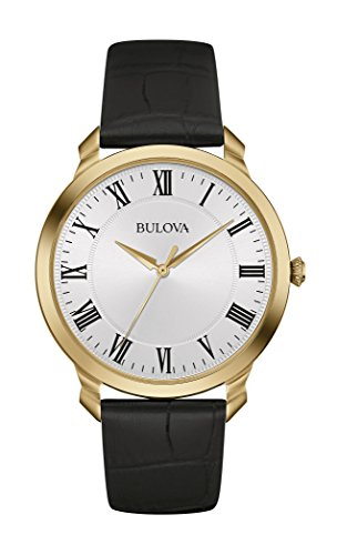 Bulova Men's 97A123 Stainless Steel Dress Watch With Black Leather (Bulova Watch Leather Band)