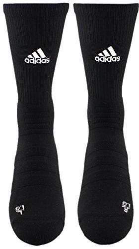 Adidas Tennis Crew Socks (adidas Alphaskin Lightweight Cushioned Crew Socks (1-Pack), black/solar red/solar yellow/football blue/solar g, 6-12)