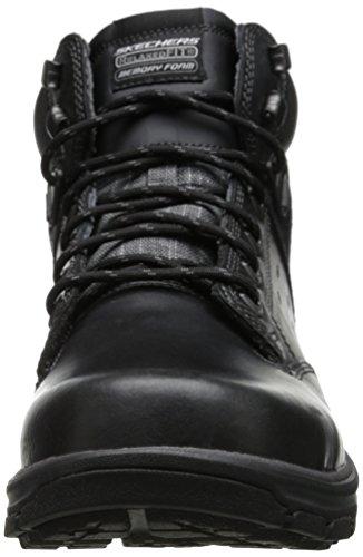 Skechers SegmentGundy - Botas para hombre Black Leather