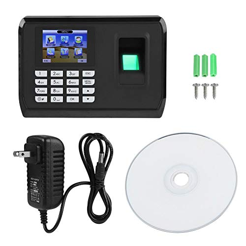 Bewinner Fingerprint Attendance Machine, 2.4inches TFT Color Screen Fingerprint Recorder Support USB Adopting T9 Input Method Editors,Time Attendance Clock Apply to Offices, Factories, Hotels(US)