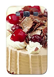 Premium Protection Cake Case Cover With Design For Galaxy S3- Retail Packaging
