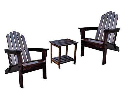 Shine Marina Adirondack With Rectangular Side Table Bundle in Burnt ()