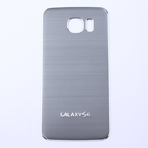 BB Mall Samsung Galaxy S6 Brushed Metal Aluminum Battery Cover, Housing Replacement Back Cover for Samsung Galaxy S6 G9200 (Grey)
