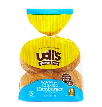 (Udi's Gluten Free Classic Hamburger Buns 10.4 Oz. - 1 Pack(4 Buns))