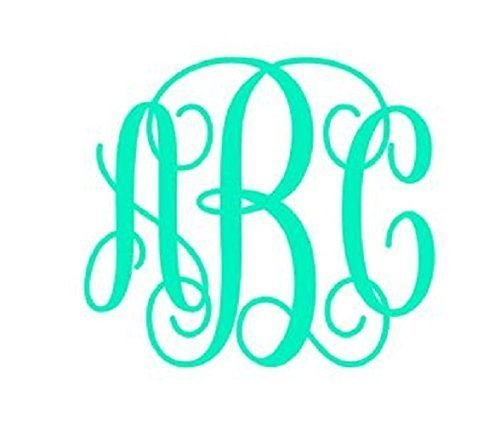 Amazoncom Custom Monogram Vinyl Decal Monogram Car Decal - Monogrammed custom vinyl decals for car