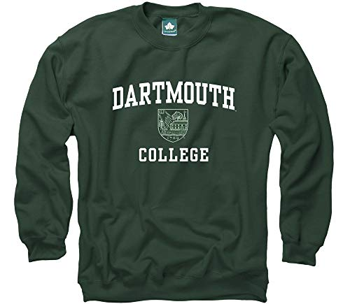Ivysport Dartmouth College Crewneck Sweatshirt, Crest, Hunter Green, Medium