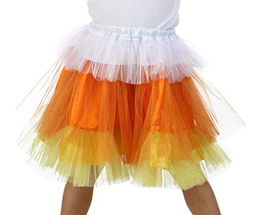 Candy Corn Tutu Costume (Premium Candy Corn Glitter)