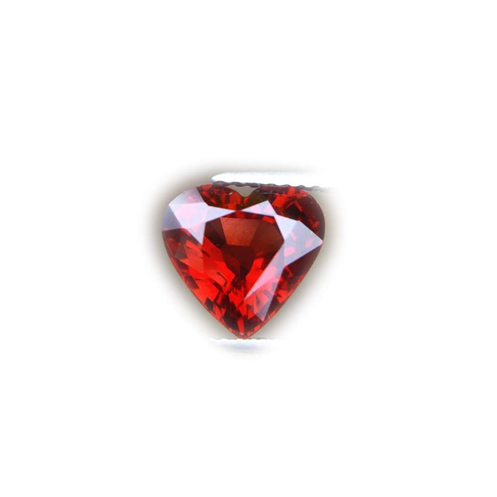 Lovemom Alluring 3.12ct Untreated Natural Heart Reddish Orange Garnet Nigeria #AB