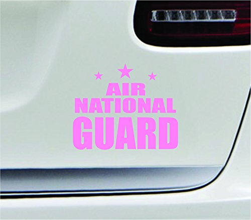 - Air national guard 5.4x4.3 soft pink government air guard militia air force USA united states color sticker state decal vinyl - Made and Shipped in USA