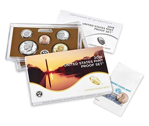 Clad Us Mint - 2019 S, W 10 Coin Clad Proof Set in OGP with CoA and Premium Proof Penny from West Point Mint Proof