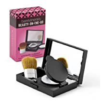 BareMinerals Beauty On The Go Refillable Compact with Mirror & Compact Buki Brush - -