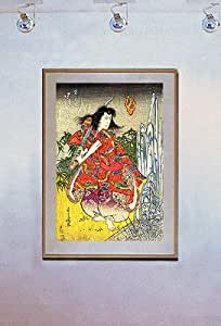 Samurai and sword japanese art print japan yoshikuni for Grasshopper tattoo supply
