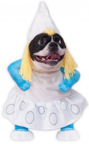 Rubie's 580670-M Smurfs The Lost Village Walking Smurfette Pet Costume, -