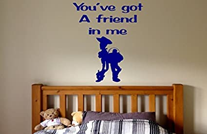 Amazoncom Hiusan Toy Story Youve Got A Friend In Me Quotes Wall