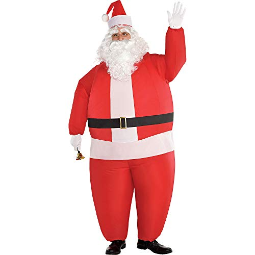 Amscan Inflatable Santa Costume for Adults, Standard, with Included Accessories ()