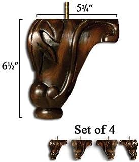 Wooden Block Corner Legs Set Of Furniture Legs Amazon Com
