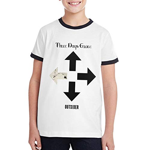 Three Days Grace - Outsider Music/Rock/Singer Round Short Sleeve T Shirt for Teen Boys and Girls Colour Bump Classic Fit XL - Band Of Clothes Outsiders