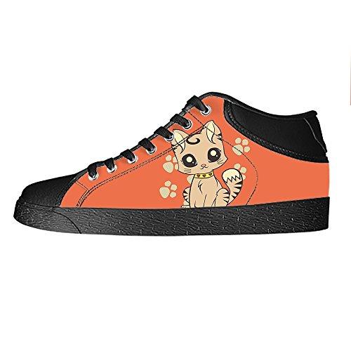 Custom Gatto del fumetto Mens Canvas shoes I lacci delle scarpe in Alto sopra le scarpe da ginnastica di scarpe scarpe di Tela. Tienda De Espacio Libre Envío Libre MCIVXqnN