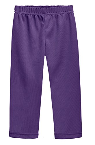 City Threads Athletic Pants For Boys and Girls Sports Camps School Running Basketball Sweat Pants Sweats Perfect For Sensitive Skin or SPD Clothing, Purple, ()