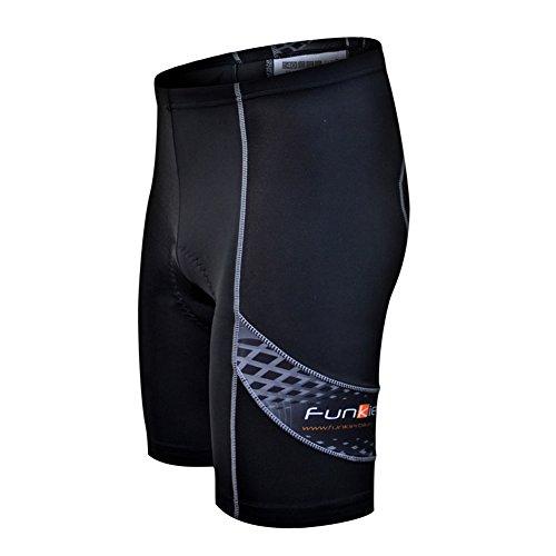 Funkier 8 Panel Lycra Shorts Medium Black ()