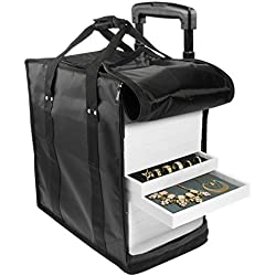 SE JT916TCB-WW Trolley Case with Wheels for Jewelry