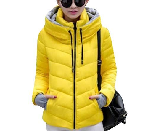 Collar Warm Stand Size Plus Jacket up Parka Coat EnergyWomen Yellow Outwear qTSFXxF