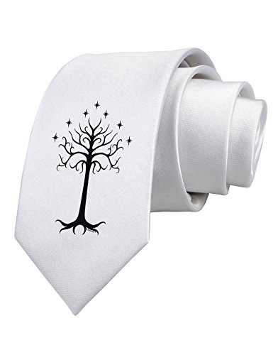 TooLoud The Royal White Tree Printed White Neck Tie ()