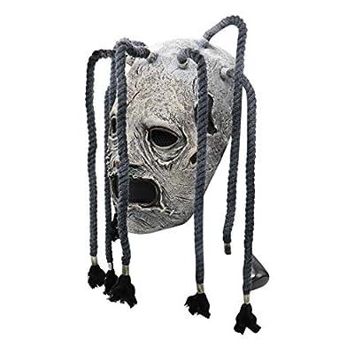 2020 Corey Taylor Latex Mask Dreadlocks Slipknot Fancy Dress Halloween Cosplay Music Party Prop Grey: Clothing
