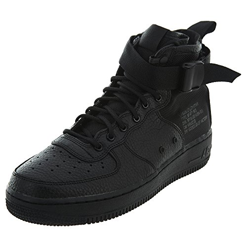 Nike SF AF1 Air Force Mid GS Hi Top Trainers AJ0424 Sneakers Shoes (UK 5 US 5.5Y EU 38, Black Black Black 003)